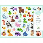 Abtibilduri Djeco Baby animals 300 buc