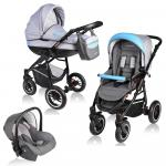 Carucior Crooner 3 in 1 Vessanti Blue/Gray