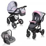 Carucior Crooner 3 in 1 Vessanti Pink/Gray