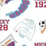 Rola tapet 10 x 0,52 m Mickey Footbal