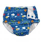 Slip refolosibil pentru inot si antrenament la olita Ultimate iPlay Royal Blue Sea Friends 4T