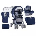 Set Carucior 2 in 1  Foxy cos auto inclus Dark Blue Teddy