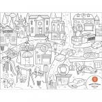 Set Complet pentru Desen cu Plansa Refolosibila din Silicon City