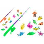 Set pescuit cu undita si 10 pestisori Globo