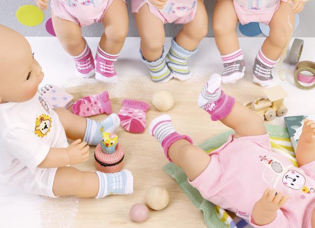 Sosete 2 perechi diverse modele Baby born