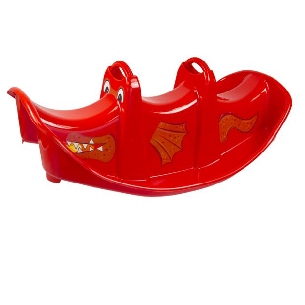 Balansoar pentru copii Double Swing Dragon Red