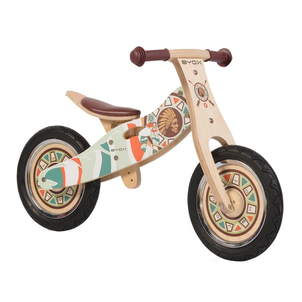 Bicicleta fara pedale din lemn Indiana