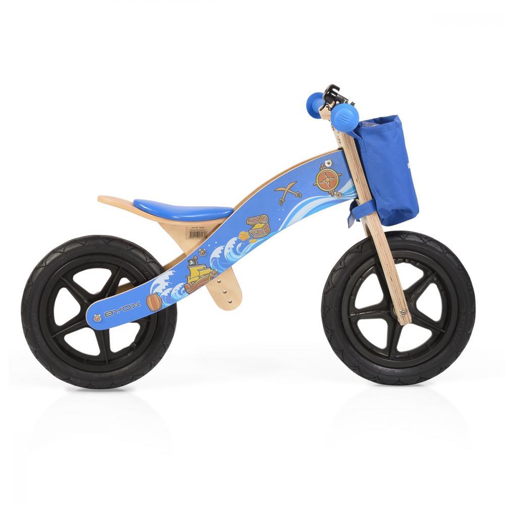 Bicicleta fara pedale din lemn Woody Blue imagine