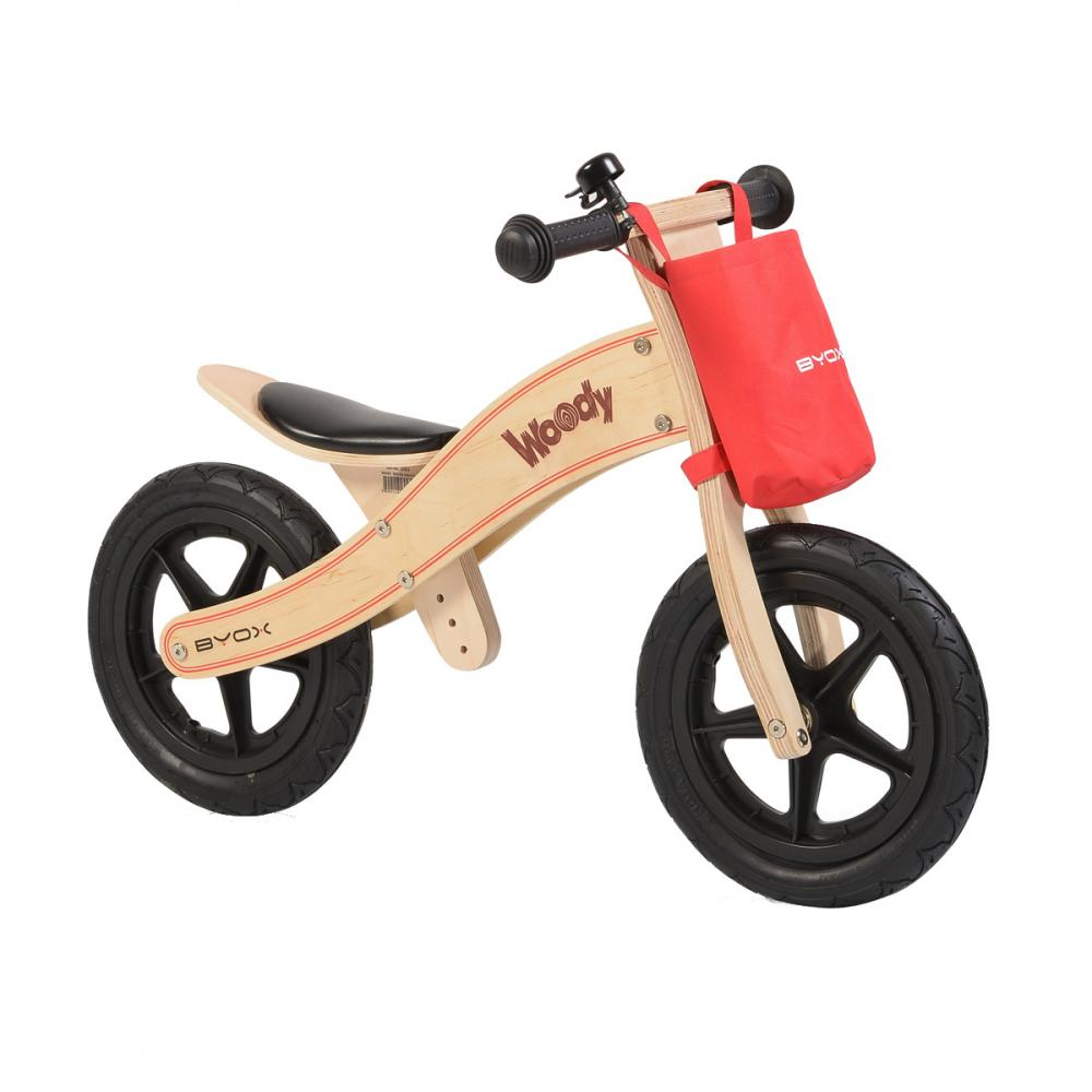 Bicicleta fara pedale din lemn Woody Natural