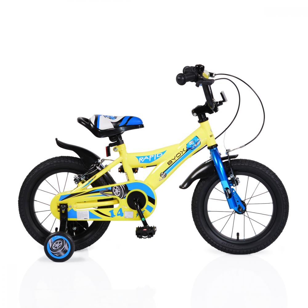 Bicicleta pentru copii Rapid Yellow 14 inch imagine