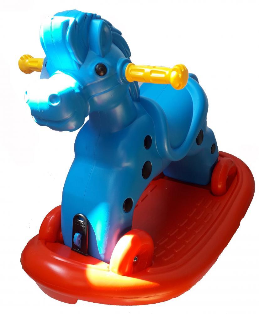 Calut balansoar cu roti Speedy Blue imagine