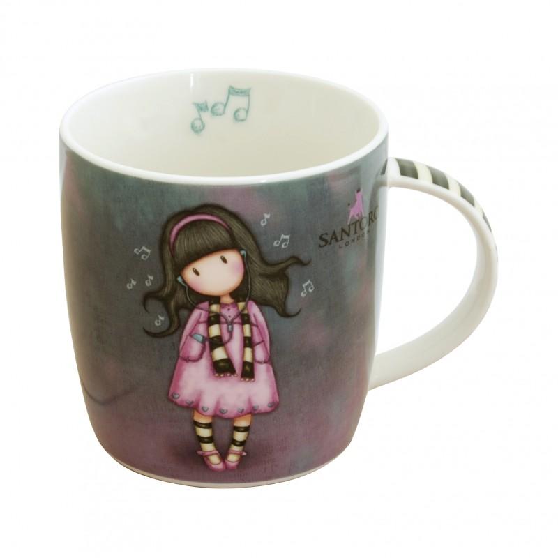 Cana portelan in cutie Gorjuss 330ml Little Song