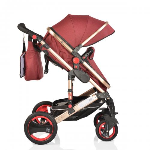 Carucior 2 in 1 cu suspensii Gala Leather Red imagine