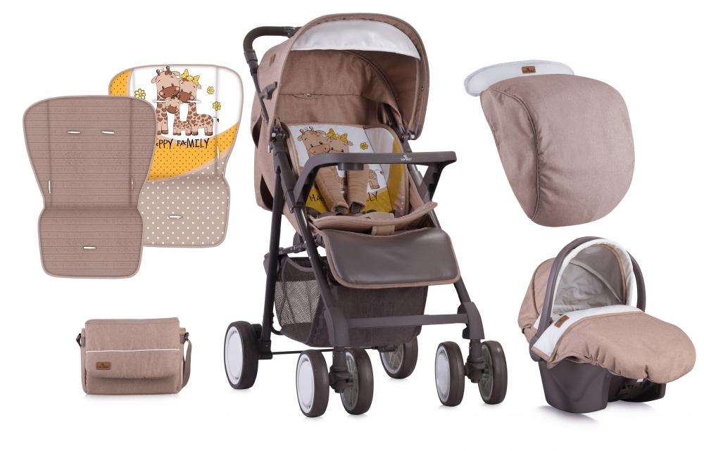 Carucior set Aero Beige Yellow Family