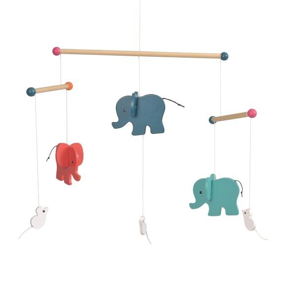 Elefanti decoratie mobil lemn Egmont