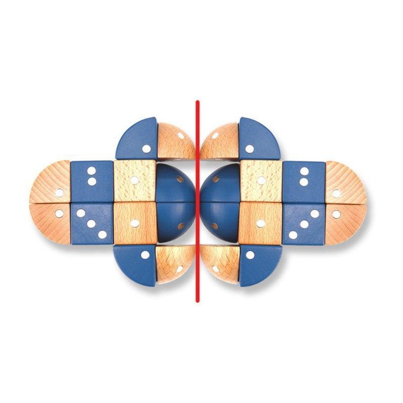 Joc magnetic educativ din lemn Figuri geometrice 24 piese