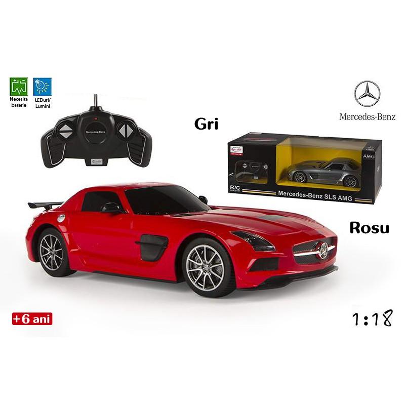 Jucarie masina Mercedes-Benz SLS AMG cu radiocomanda