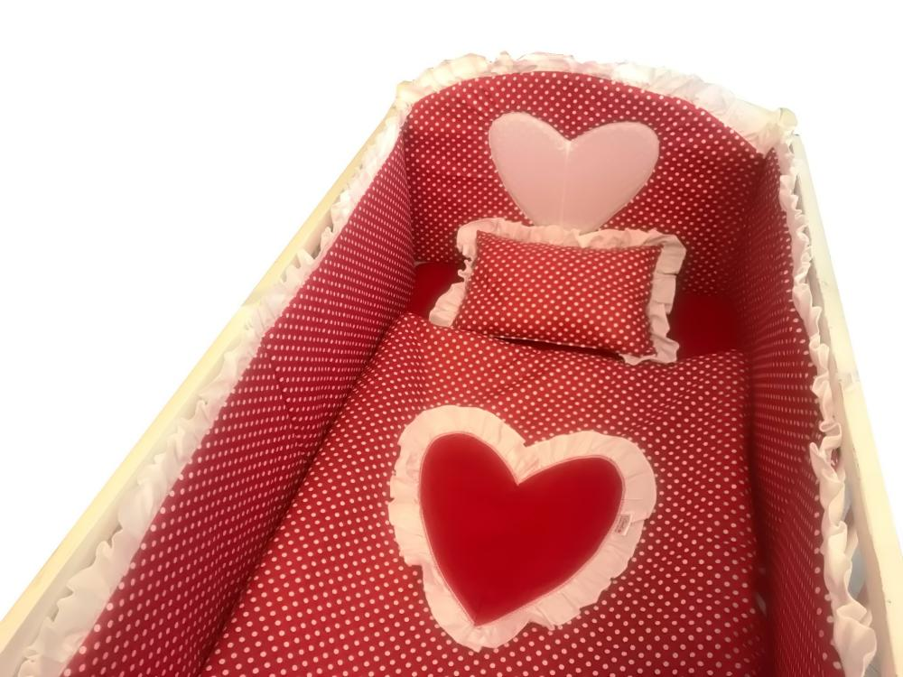 Lenjerie de pat 120x60 cm Te iubesc puisor rosu