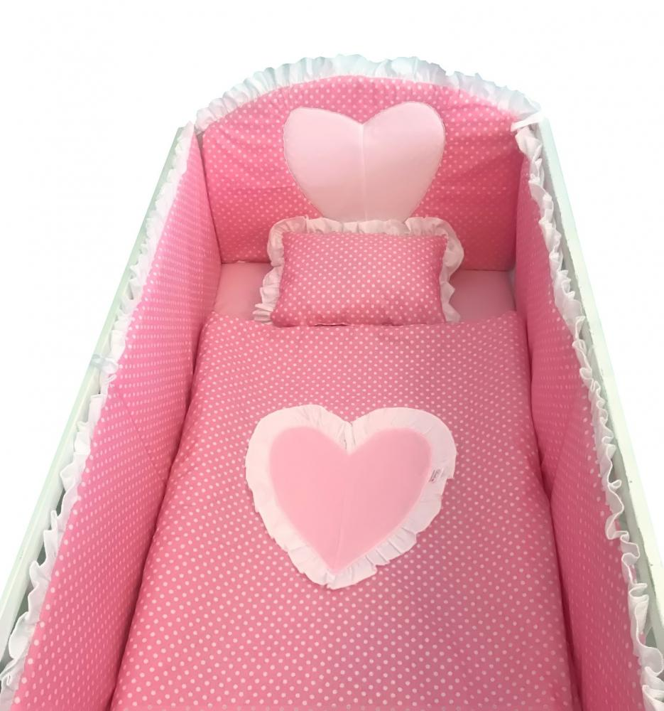 Lenjerie de pat 140x70 cm Te iubesc puisor roz