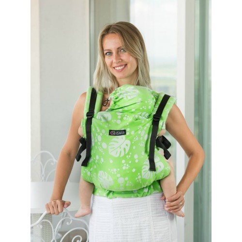 Marsupiu Isara Toddler Full Wrap Conversion Philodendra Lime
