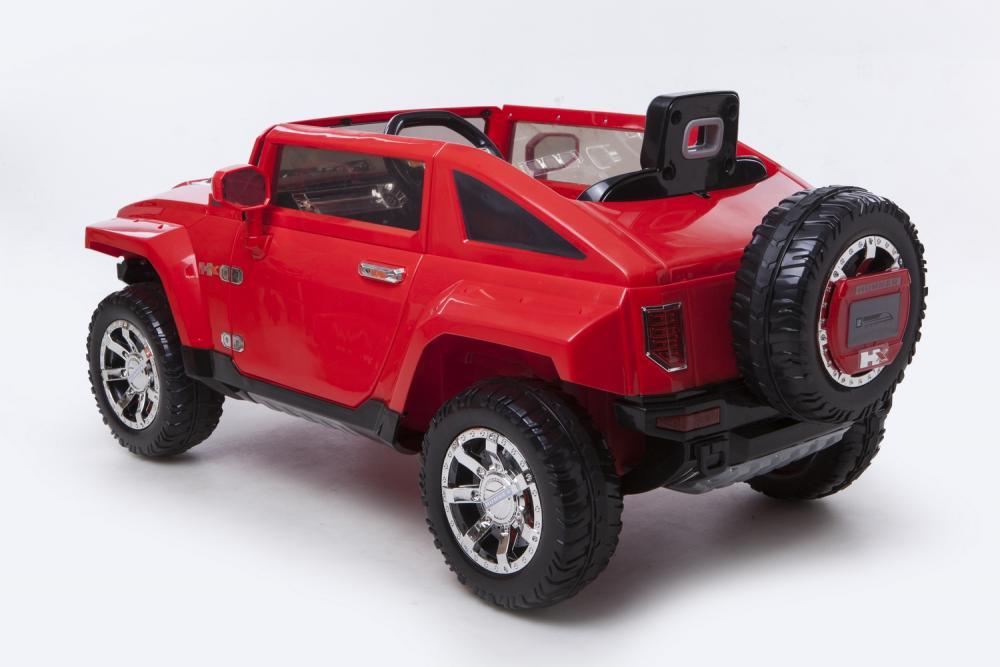 Masinuta Electrica Cu Suspensii Si Telecomanda Hummer Red