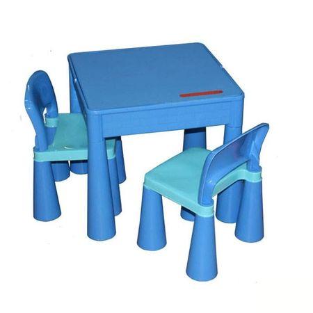 Masuta Mamut cu 2 scaunele Albastra
