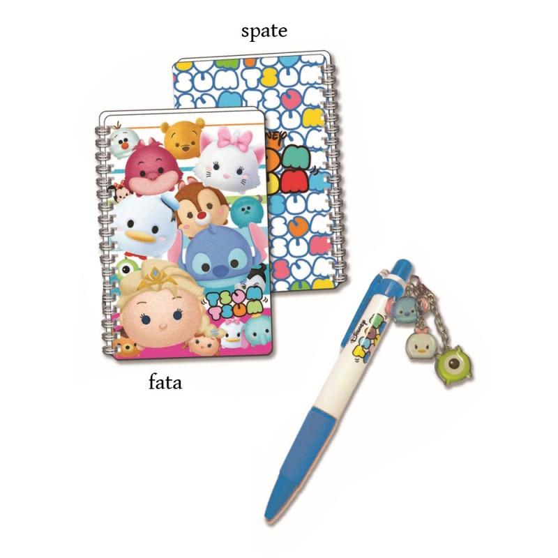 Mini jurnal 3D cu pix albastru Tsum Tsum