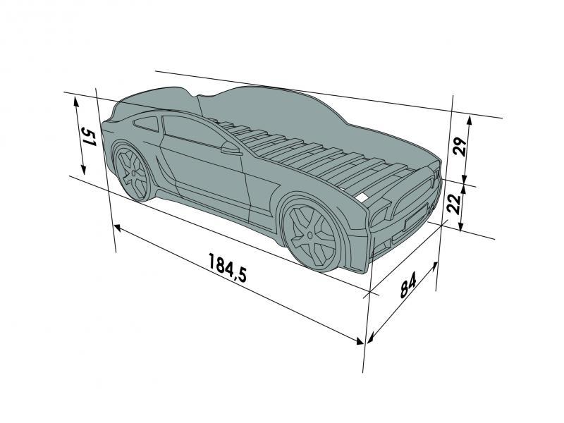Pat masina tineret Light-MG 3D Galben