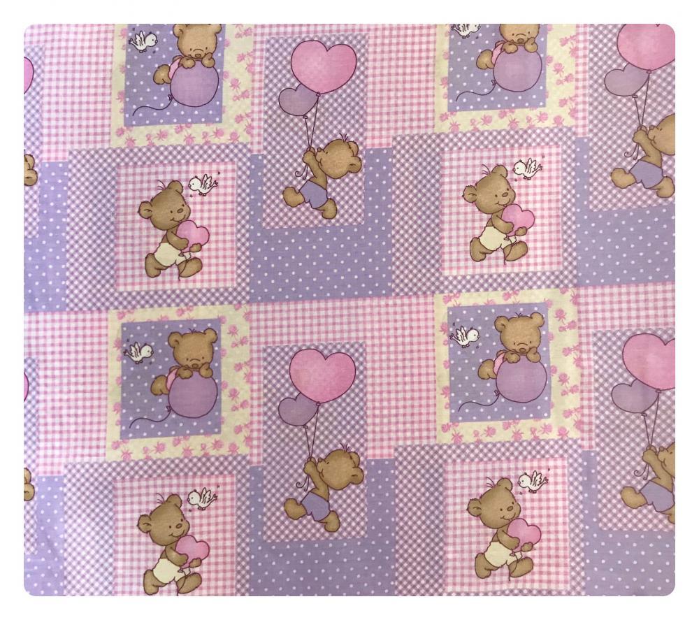 Paturica dubla de vara bebelusi DeLuxe 98×78 cm ursuleti pe roz din categoria Camera copilului de la DESEDA