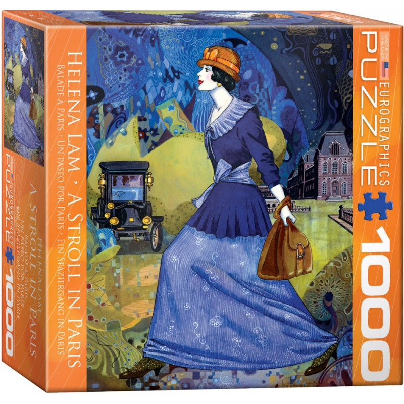 Puzzle 1000 piese A Stroll in Paris-Helena Lam