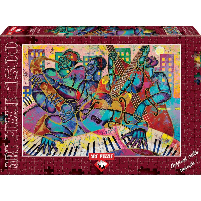 Puzzle 1500 piese Jazz Modern Larry Poncho Brown