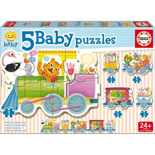 Puzzle Baby Animals Train