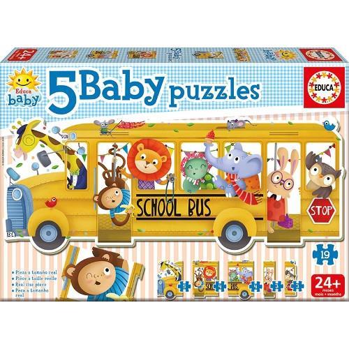 Puzzle Baby School Bus 19 Piese