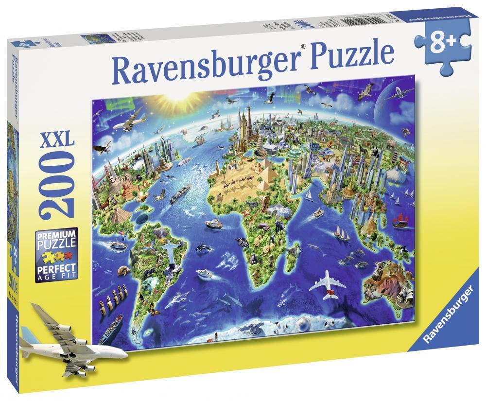 Puzzle Harta Lumii 200 piese