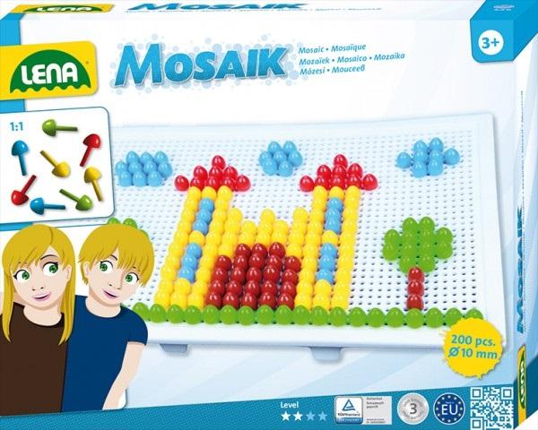 Set creatie si constructie Mozaic Lena Multicolor Mare 200 piese