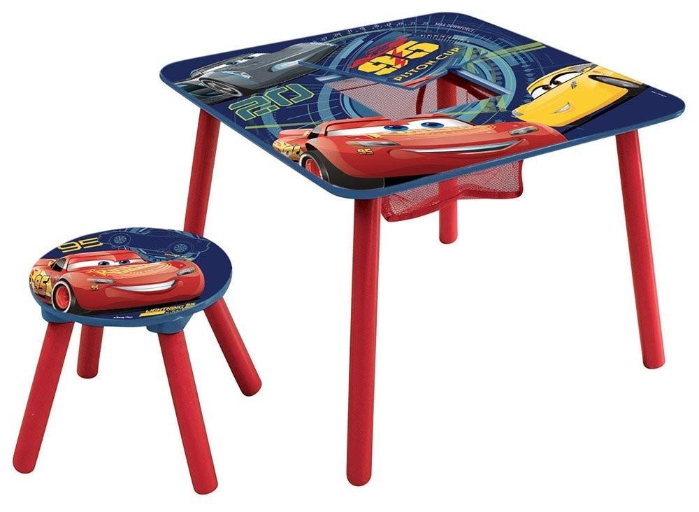 Set masuta multifunctionala si 1 taburet Cars 3