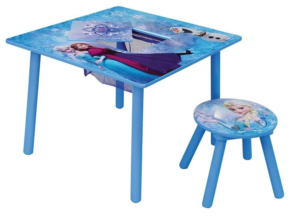 Set masuta multifunctionala si 1 taburet Elsa si Anna