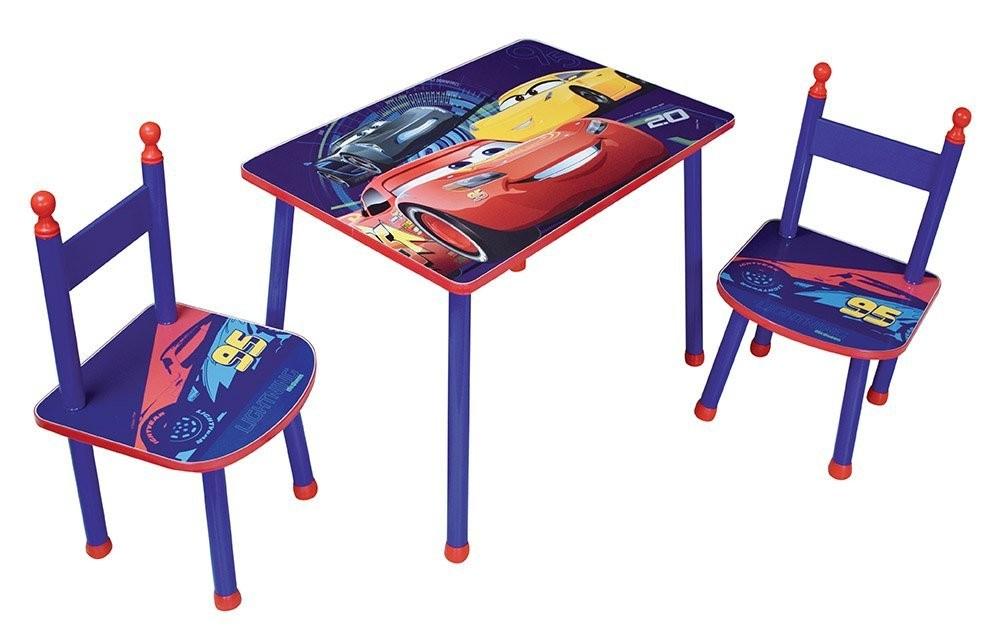Set masuta si 2 scaunele Cars 3