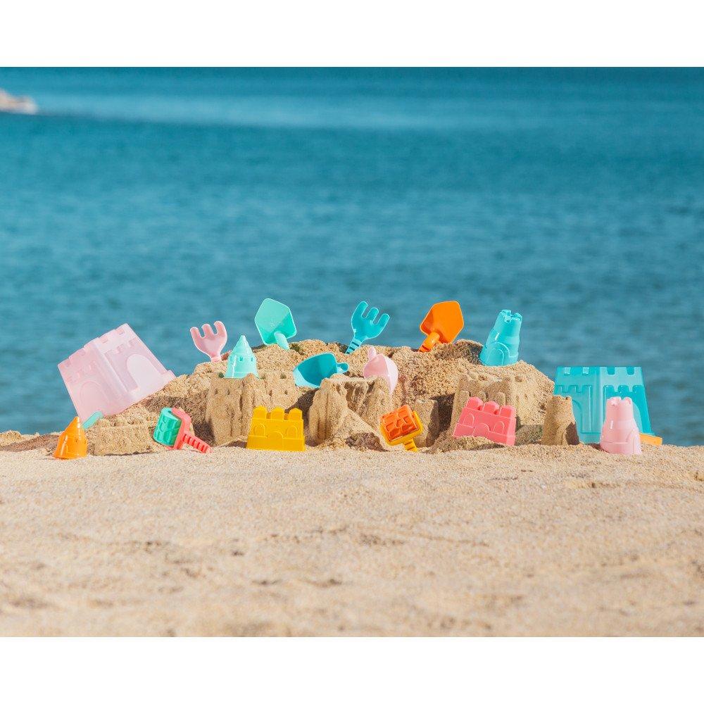 Set premium pentru a construi castele de nisip Roz
