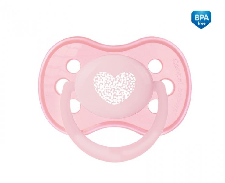 Suzeta silicon ortodontica 18 luni+ Roz