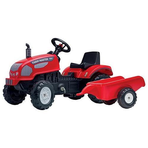 Tractor cu Pedale si Remorca Farm Master 720i Rosu imagine