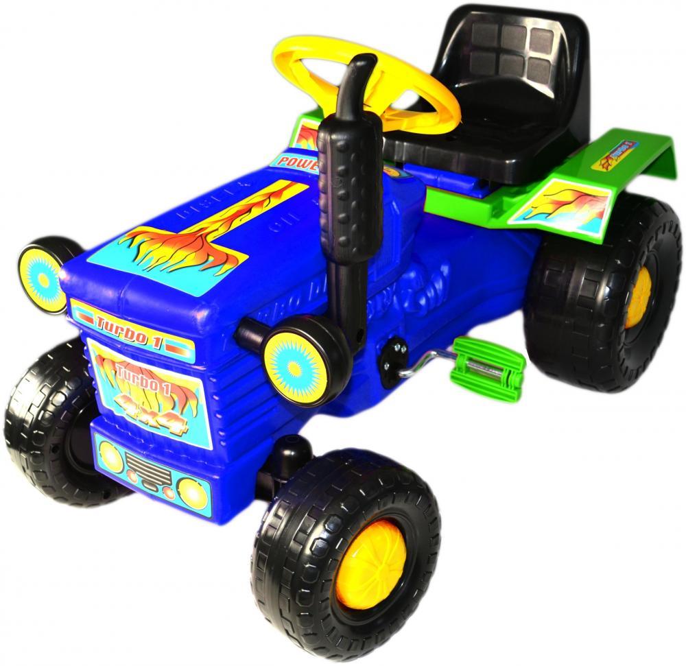 Tractor cu pedale Turbo blue