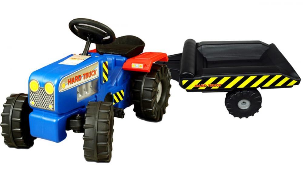 Tractor cu pedale si remorca Hard Truck blue