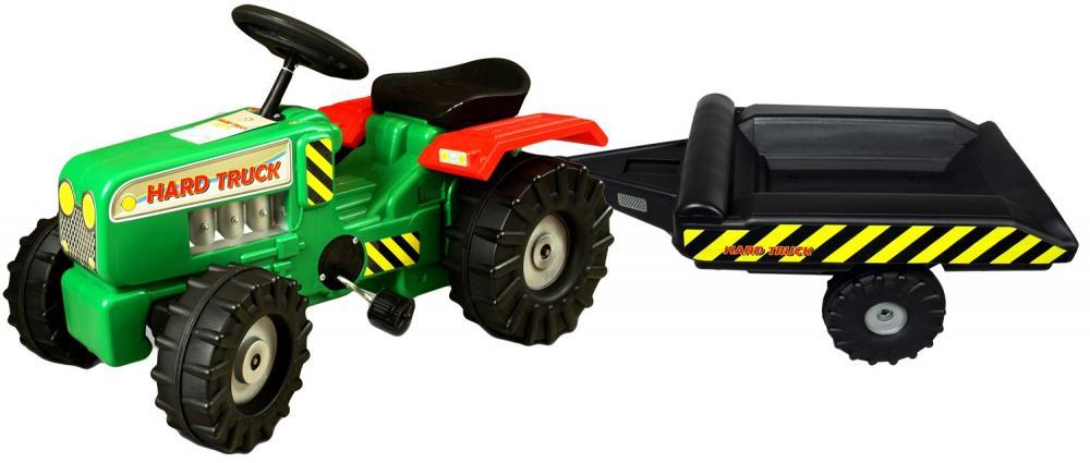 Tractor cu pedale si remorca Hard Truck green