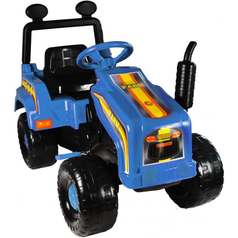 Tractor cu pedale si remorca Mega Farm blue
