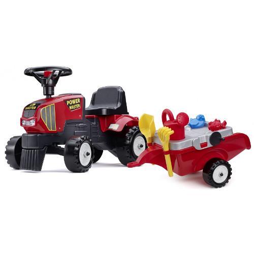 Tractoras Baby Power Master cu Remorca Forme Nisip Lopata Grebla si Stropitoare