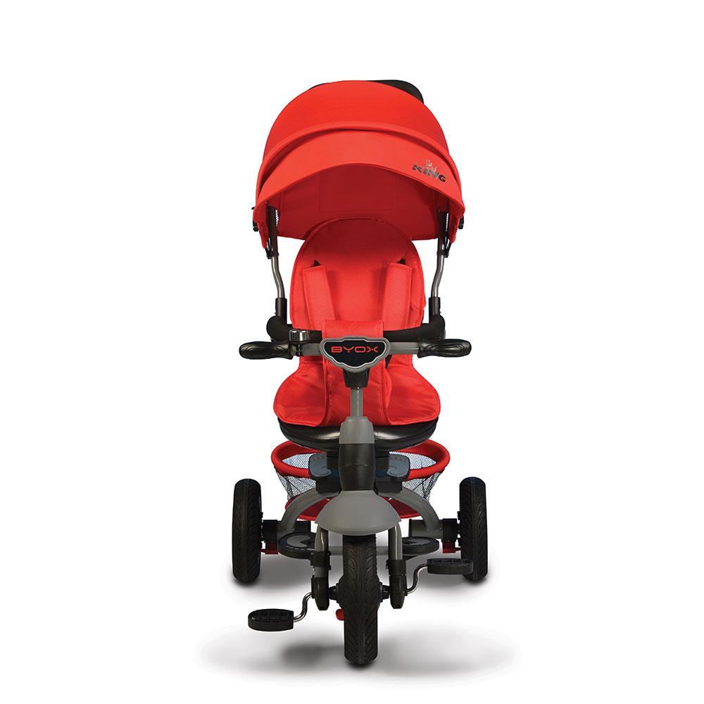 Tricicleta Cu Sezut Reversibil Si Mufa Mp3 King Red
