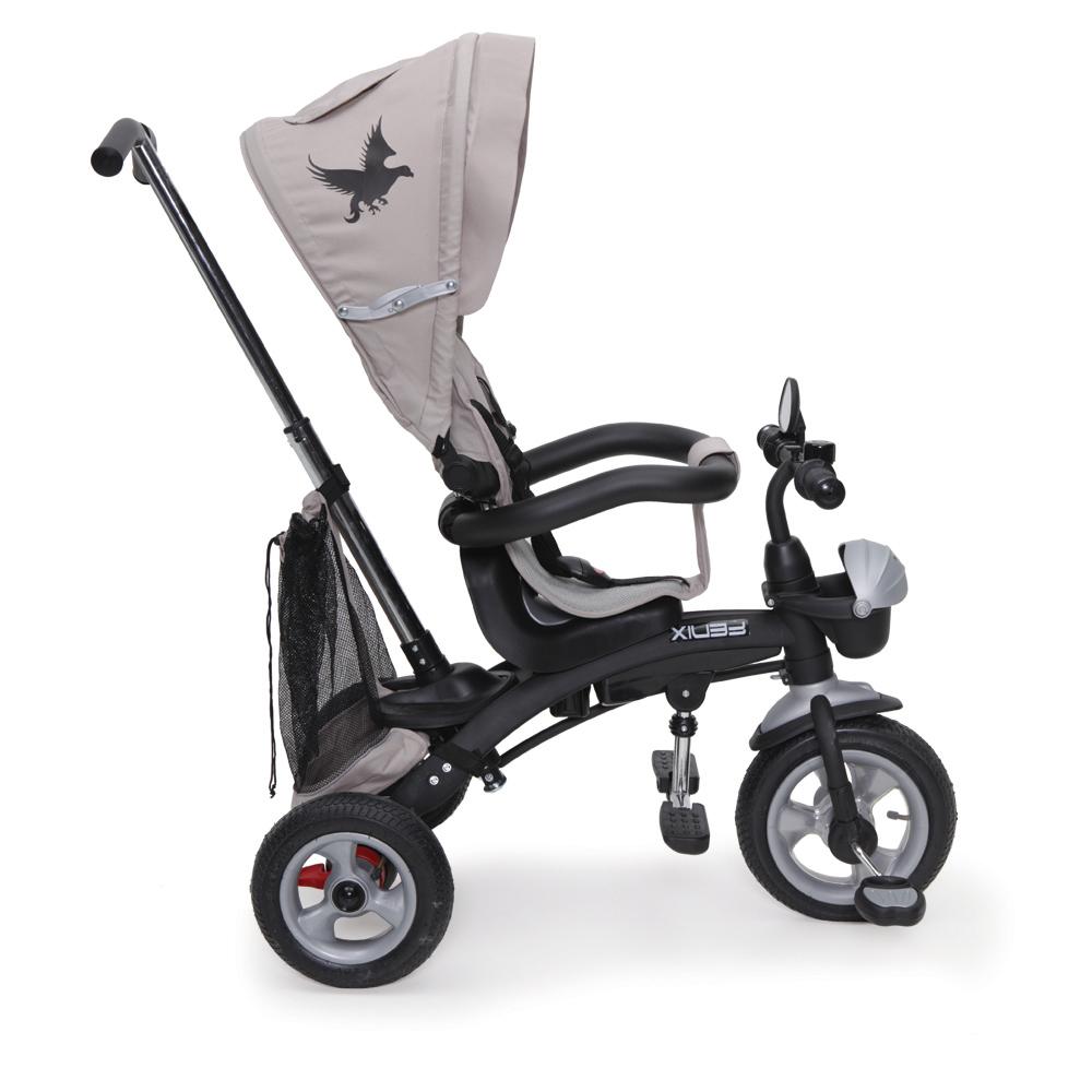 Tricicleta cu sezut reversibil si roti gonflabile Fenix Beige imagine