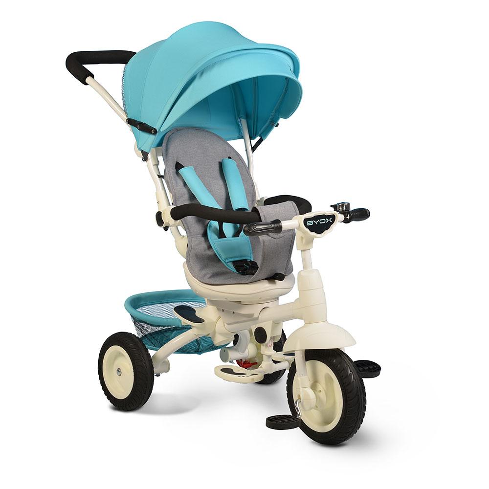 Tricicleta Cu Sezut Reversibil Si Mufa Mp3 Queen Blue