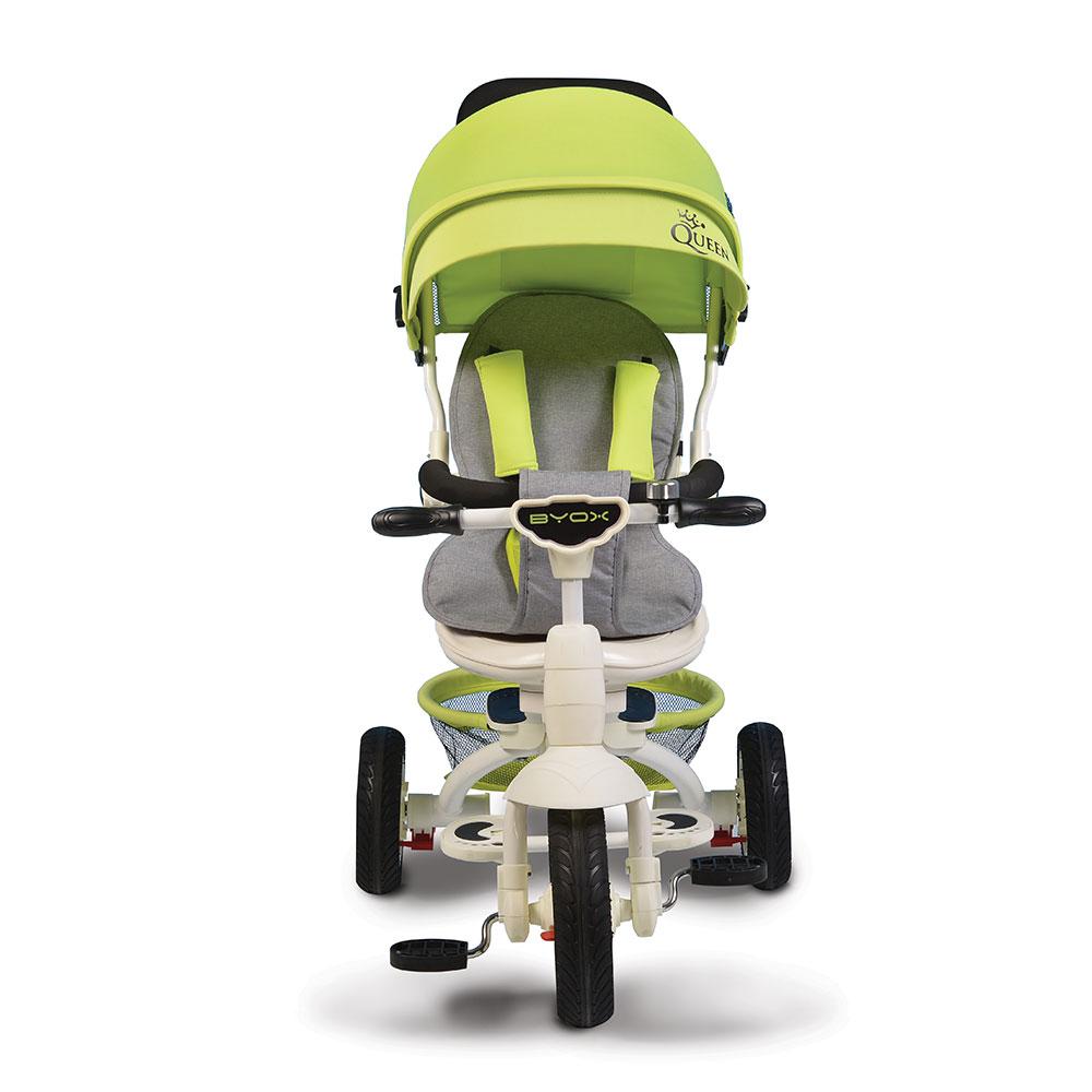Tricicleta Cu Sezut Reversibil Si Mufa Mp3 Queen Green